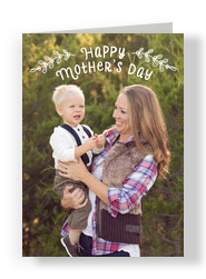 Happy Mother's Day Photo Overlay 5x7 Folded Card
