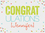 Congratulations with Confetti 7x5 Folded Card