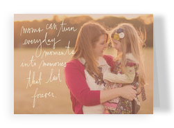 Mom Moments - Script Overlay 7x5 Folded Card