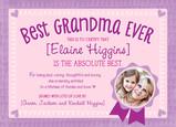 Best Grandma Certificate 7x5 Flat Card