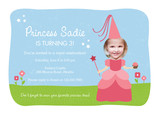 Princess Birthday Invitation 7x5 Flat Card