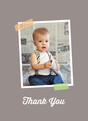 Washi Tape Thank You - Orange 3.75x5.25 Folded Card