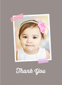 Washi Tape Thank You - Pink 3.75x5.25 Folded Card