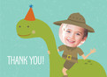 Dinosaur Thank You 5.25x3.75 Folded Card