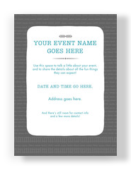 General Invitation on Gray Pattern 5x7 Flat Card