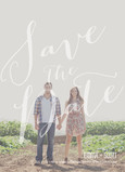 Save the Date - Large Script Overlay 5x7 Flat Card