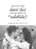 Dancin' Shoes Save the Date 5x7 Flat Card