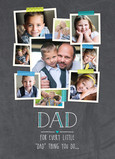 Dad Photo Collage on Chalkboard 5x7 Folded Card