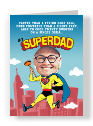 Superdad 5x7 Folded Card