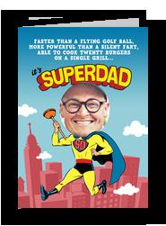 Superdad 5x7 Folded Card