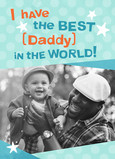 Best in the World Father's Day 5x7 Folded Card