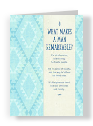 Remarkable Man - Aztec Pattern 5x7 Folded Card
