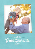 Happy Grandparents Day on Blue 5x7 Folded Card