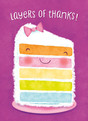 Layers of Birthday Thanks 3.75x5.25 Folded Card