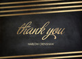 Chalkboard with Gold Grad Thank You 5.25x3.75 Folded Card
