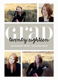 Clean Blocks Grad Announcement 5x7 Flat Card
