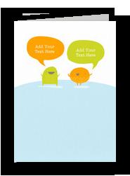 Cute Conversation 5x7 Folded Card