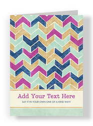 Painterly Chevron Pattern 5x7 Folded Card