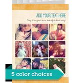 Trendy Colors - 9 Photos 5x7 Folded Card