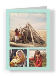Painted Frame - 3 Photos 5x7 Folded Card
