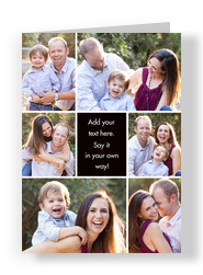 Color Frame - Center Text Box Vertical 5x7 Folded Card