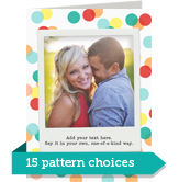 Pattern Card with Instant Photo Vertical 5x7 Folded Card