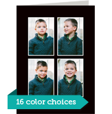 Color Frame - 4 Photos Vertical 5x7 Folded Card