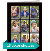 Color Frame - 9 Photos Vertical 5x7 Folded Card