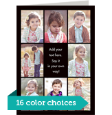 Color Frame - Border with Center Text Vertical 5x7 Folded Card