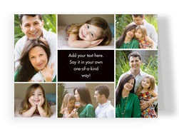 Color Frame - Center Text Box Horizontal 7x5 Folded Card