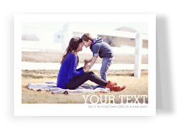 White Border Photo - Horizontal 7x5 Folded Card