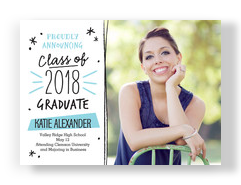 Sketchbook Grad Announcement 7x5 Flat Card