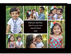 Color Frame - Postcard with Center Text 7x5 Postcard