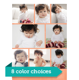 Fun Color Photo Grid - 8 Photos 5x7 Flat Card