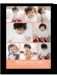 Fun Color Photo Grid - 8 Photos 5x7 Flat Card