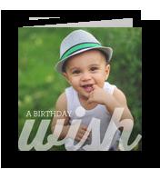 A Birthday Wish 4.75x4.75 Folded Card