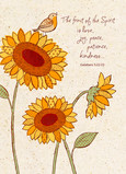 Sunflowers on Kraft Paper 5x7 Folded Card