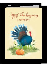 Watercolor Turkey 5x7 Folded Card
