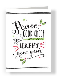 Peace and Good Cheer 5x7 Folded Card