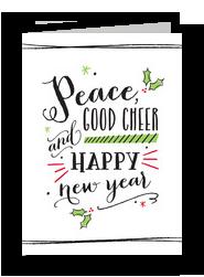 Peace and Good Cheer 5x7 Folded Card