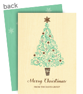 Whimsy Pattern Christmas Tree 5x7 Flat Card