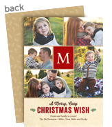 Multi-photo Christmas Wish 5x7 Flat Card