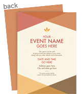 Triangle Pattern Invitation 5x7 Flat Card