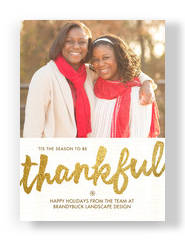 Thankful Holiday Season 5x7 Flat Card
