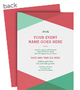 Triangle Pattern Invitation - Holly 5x7 Flat Card