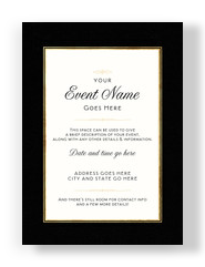 Black and Gold Invitation 5x7 Flat Card