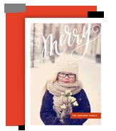 Merry Script 5x7 Flat Card