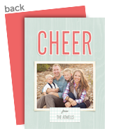 Cheer on Mint 5x7 Flat Card