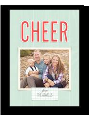 Cheer on Mint 5x7 Flat Card