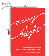 Merry + Bright Script 5x7 Flat Card